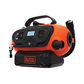 BLACK+DECKER 12-Volt and 120-Volt / 120 Lithium Ion (Li-ion) Air Inflator (Power Source: Battery; Car; Electric)