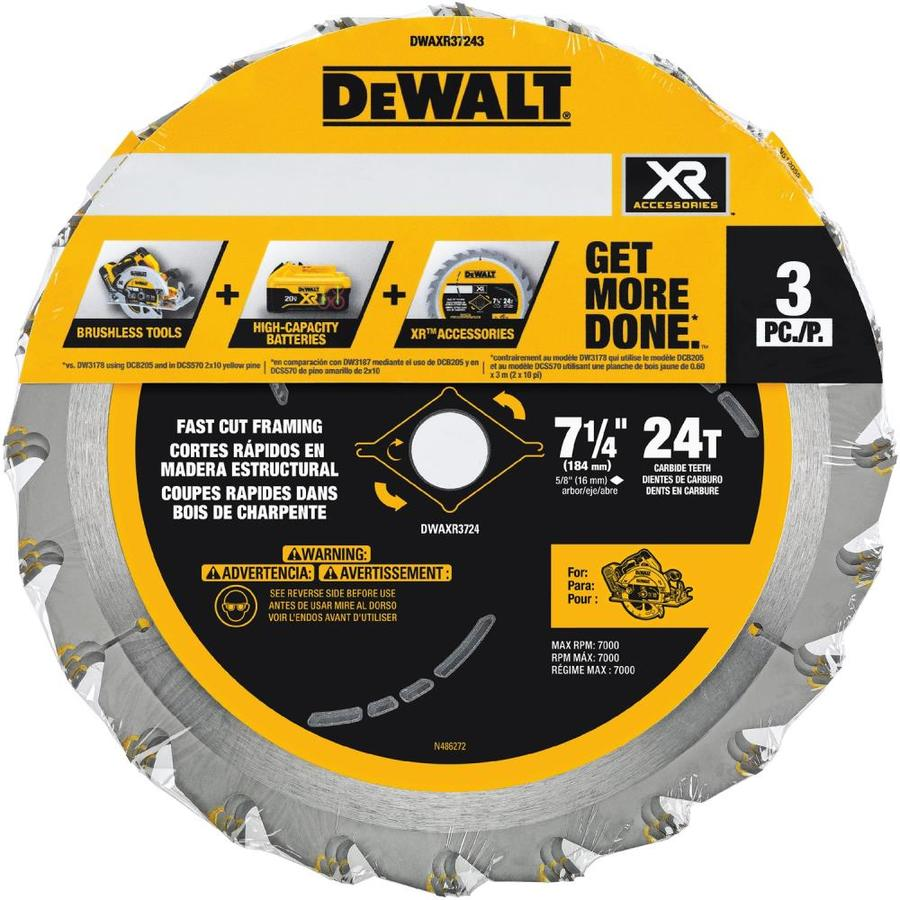 Shop dewalt 7 14 in 3 pack circular saw blade set at lowes dewalt 7 14 in 3 pack circular saw blade set keyboard keysfo Images