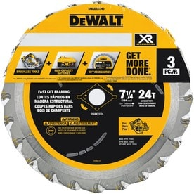 DEWALT 3-Pack 7-1/4-in 24-Tooth Carbide Circular Saw Blade