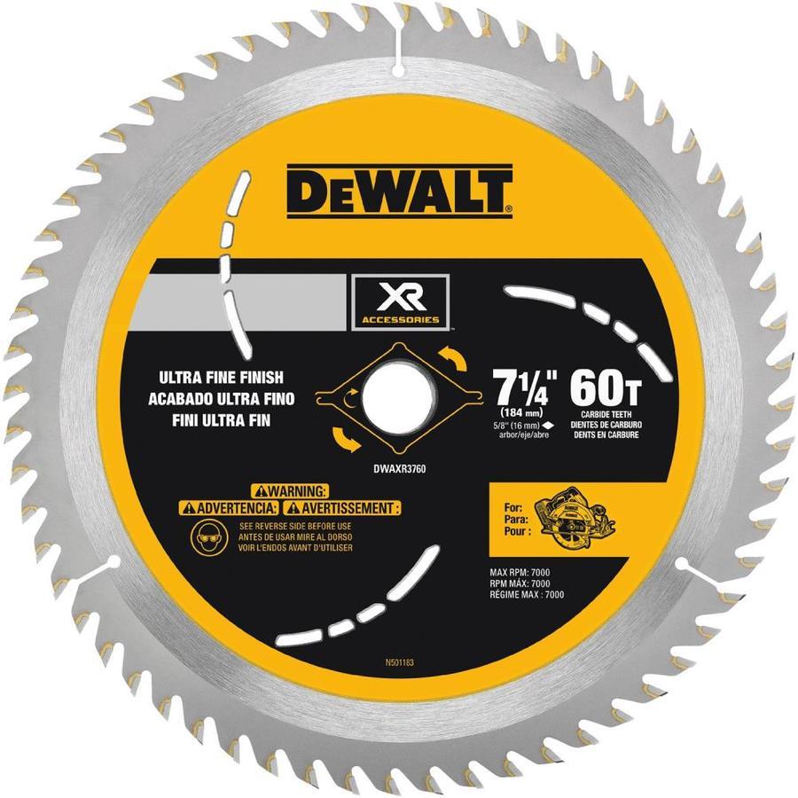 Shop dewalt 7 14 in 60 tooth carbide circular saw blade at lowes dewalt 7 14 in 60 tooth carbide circular saw blade greentooth Gallery