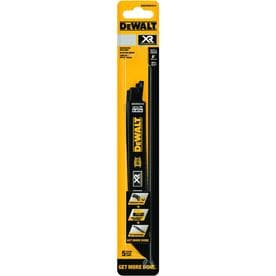 DEWALT XR 5-Pack 8-in 10/14-TPI Metal Cutting Reciprocating Saw Blade