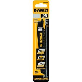 DEWALT XR 5-Pack 6-in 5/8-TPI Wood Cutting Reciprocating Saw Blade