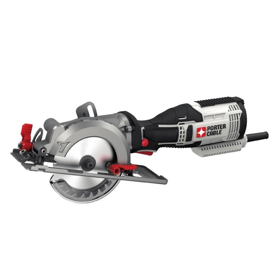 Shop porter cable 55 amp 4 12 in corded circular saw at lowes porter cable 55 amp 4 12 in corded circular saw greentooth Choice Image