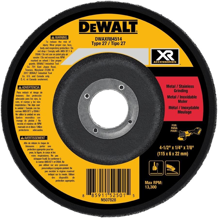 Shop dewalt xr ceramic 45 in 24 grit grinding wheel at lowes dewalt xr ceramic 45 in 24 grit grinding wheel dailygadgetfo Images