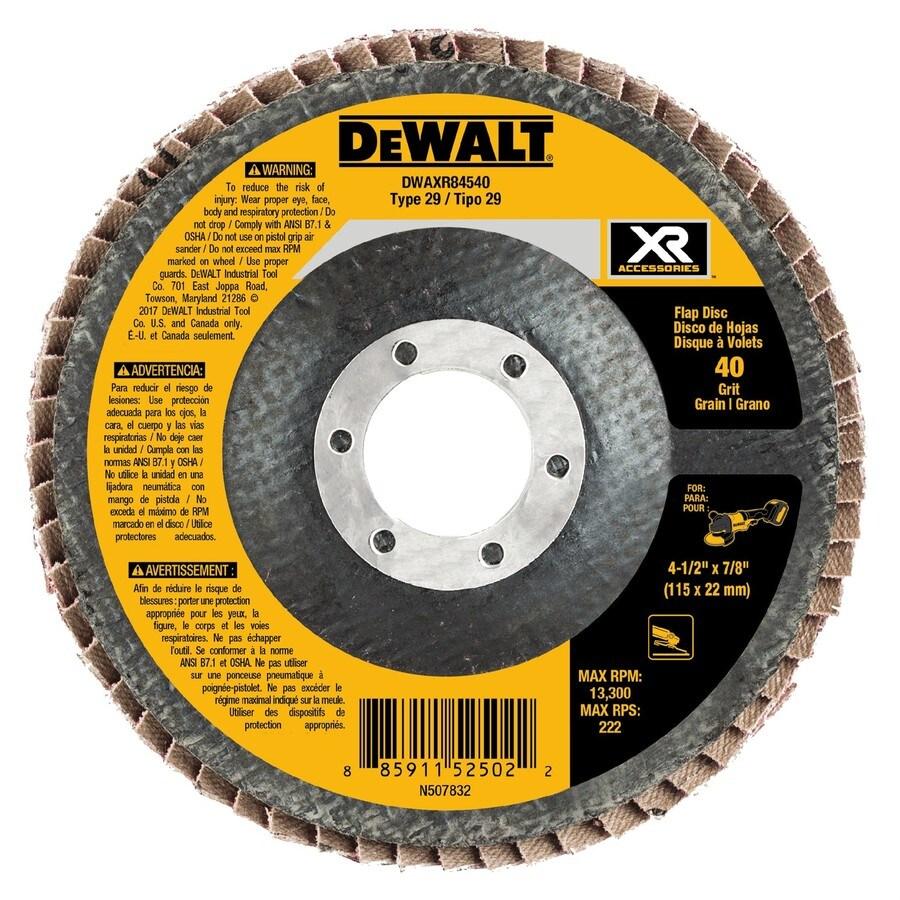 DEWALT XR Ceramic 4.5-in 40-Grit Grinding Wheel
