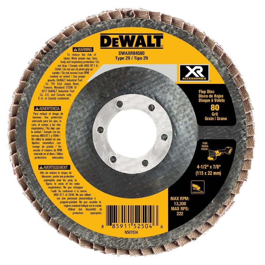 DEWALT XR Ceramic 4.5-in 80-Grit Grinding Wheel