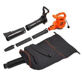 BLACK+DECKER 12-Amp 400-CFM 250-MPH Corded Electric Leaf Blower Vacuum Kit Included