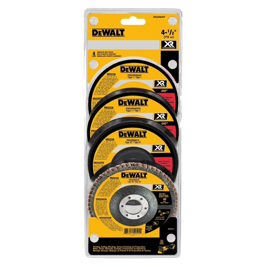 DEWALT 4-Pack XR Ceramic 4.5-in 40-Grit Grinding Wheel