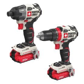 PORTER-CABLE 2-Tool 20-Volt Max Brushless Power Tool Combo Kit (Charger Included and 2-Batteries Included)