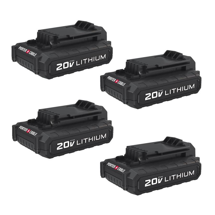 PORTER-CABLE 4-Pack 20 max-Volt Lithium Power Tool Battery