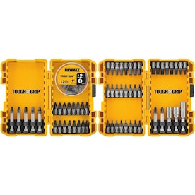 DEWALT Tough Grip 70-Piece Steel Hex Shank Screwdriver Bit Set