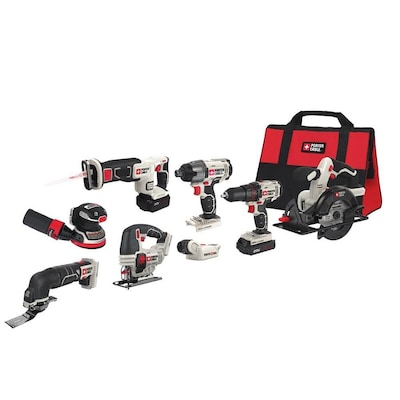 20 Volt Max 8 Tool Power Tool Combo Kit With Soft Case 2 Batteries Included And Charger Included