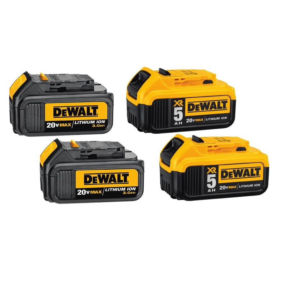 DEWALT XR 4-Pack 20-Volt Max Lithium Power Tool Battery