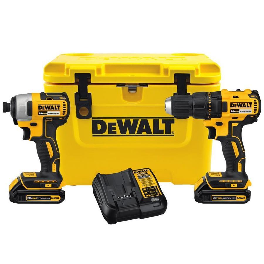 Shop DEWALT 2Tool 20Volt Lithium Ion Brushless Cordless Combo Kit