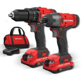 CRAFTSMAN V20 2-Tool 20-Volt Max Power Tool Combo Kit with Soft Case (Charger Included and 2-Batteries Included)
