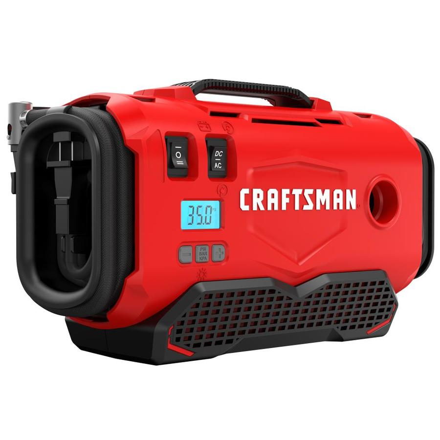 Craftsman 12 Volt And 120 Lithium Ion Air Inflator Source Battery Car Electric