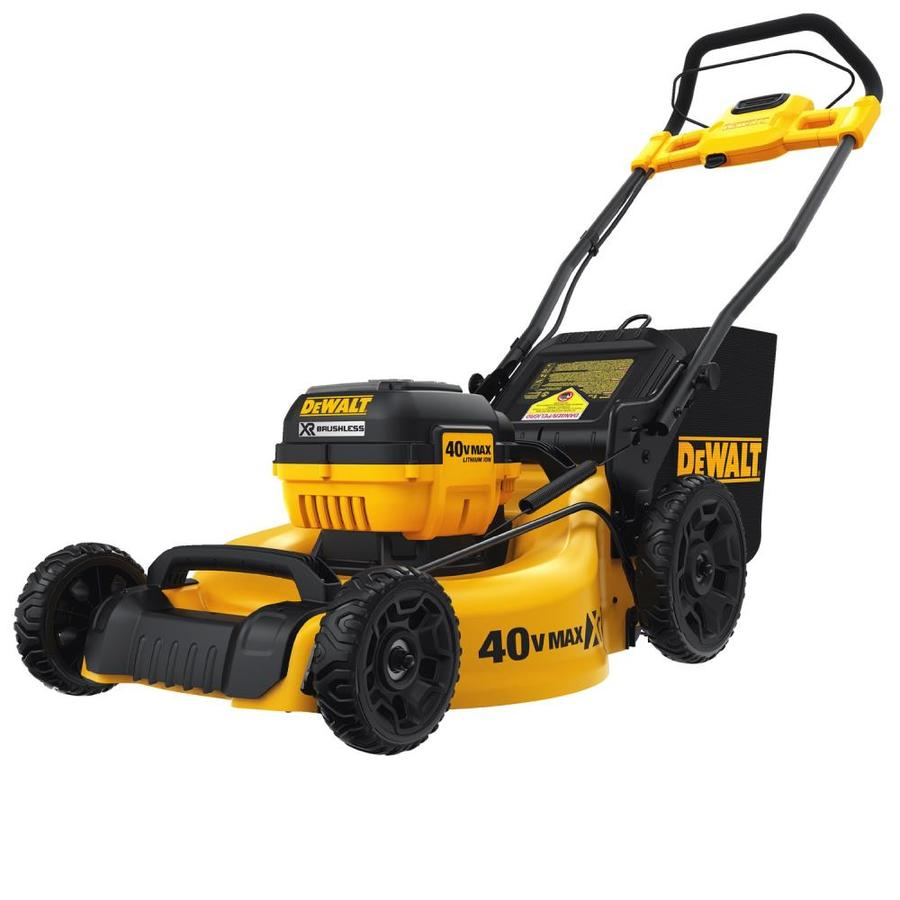 Dewalt Xr 40 Volt Brushless Lithium Ion 20 In Cordless Electric Lawn Mower