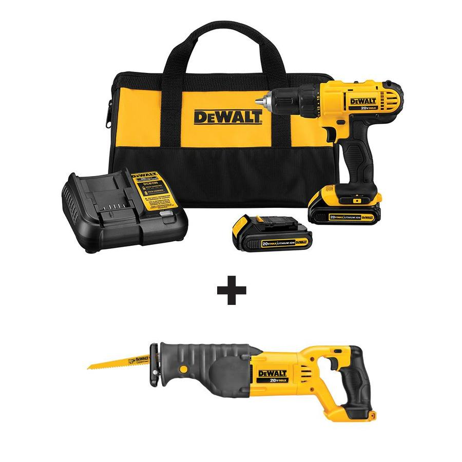 DEWALT 20-Volt Max 1/2-in Cordless Drill with Reciprocating Saw