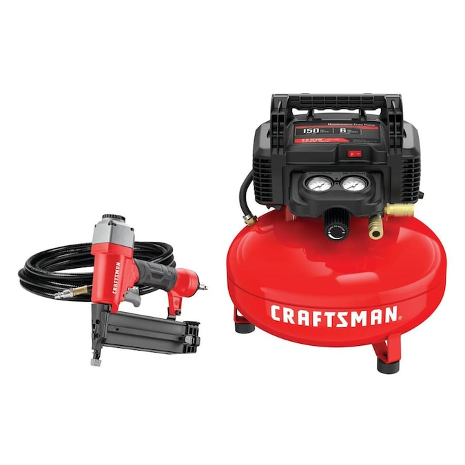 CRAFTSMAN 6-Gallon Single Stage Portable Electric Pancake Air Compressor (1-Tools Included)