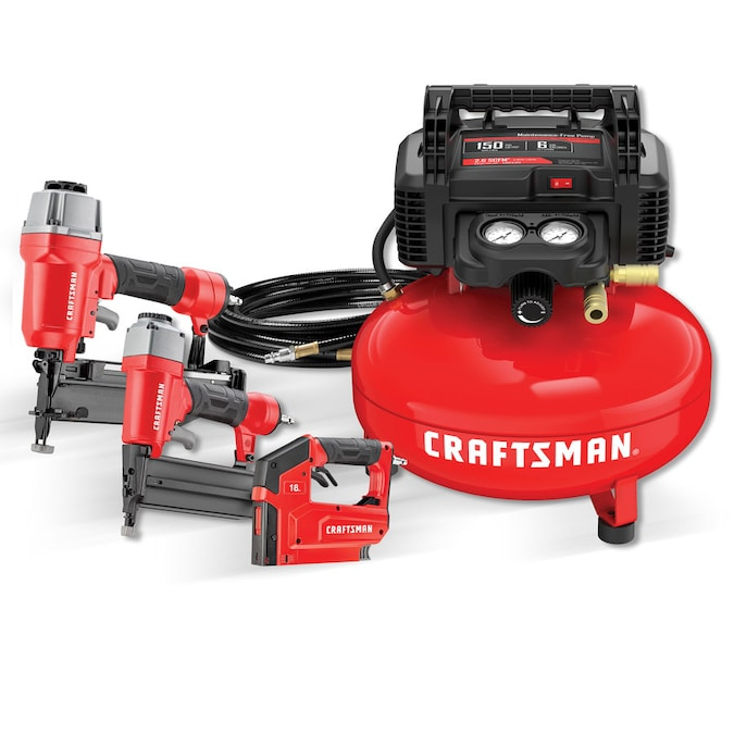 CRAFTSMAN 6-Gallon Single Stage Portable Electric Pancake Air Compressor (3-Tools Included)