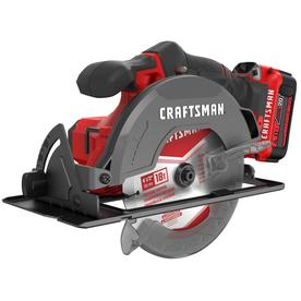 CRAFTSMAN V20 20-volt Max 6-1/2-in Cordless Circular Saw with Brake and Metal Shoe (1 Battery Included)