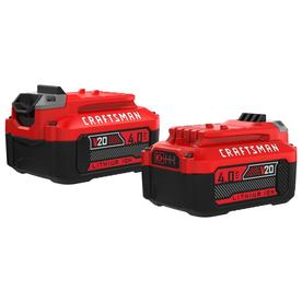 CRAFTSMAN V20 2-Pack 20-Volt Max 4-Amp-Hours Lithium Power Tool Battery