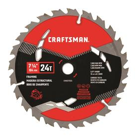 Craftsman Tools 7-1/4-in 24-Tooth Carbide Circular Saw Blade
