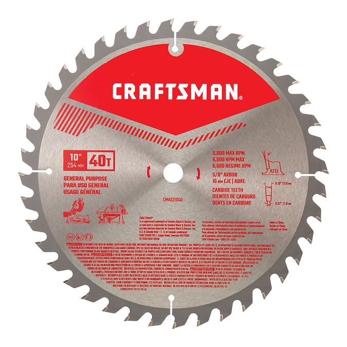 40 Tooth Carbide Miter Table Saw Blade