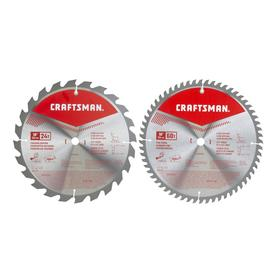 Craftsman Tools 2-Pack 10-in High-speed Steel Circular Saw Blade Set