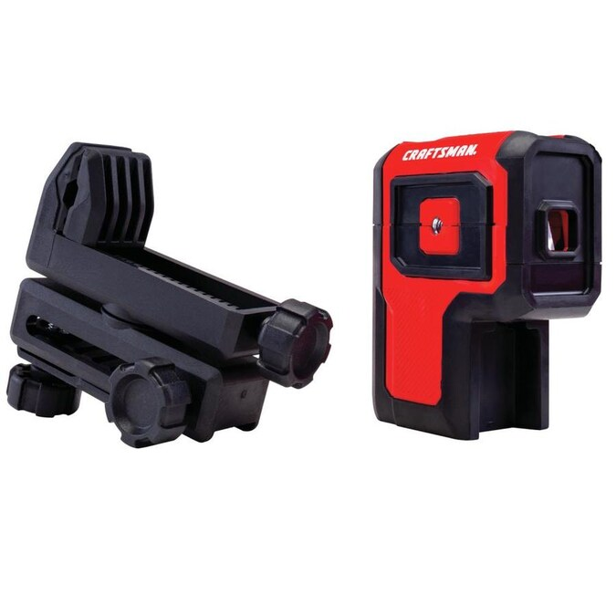 Craftsman 100 Ft Red Beam Self Leveling Line Generator 3 Spot Laser Level Kit With Plumb Points With Hard Case In The Laser Levels Department At Lowes Com