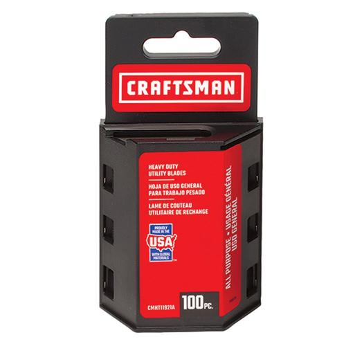 100-Pack Craftsman Carbon Steel Utility Replacement Blade