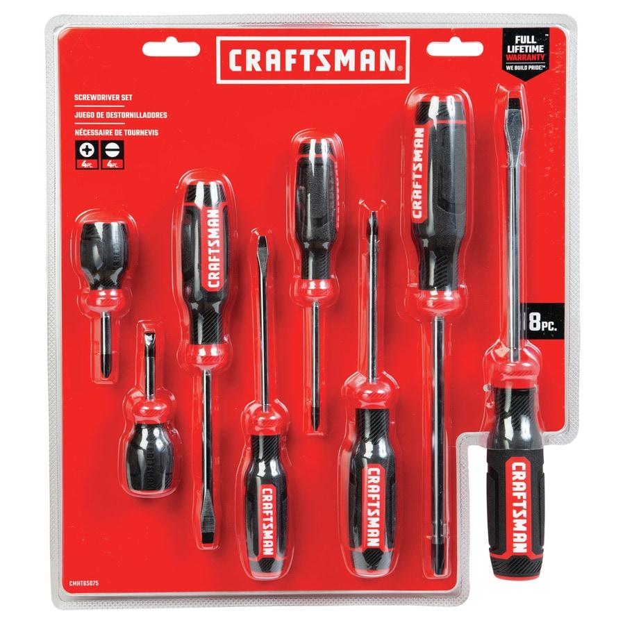 5440c19c7e7b6 CRAFTSMAN 8-Piece Screwdriver Set at Lowes.com