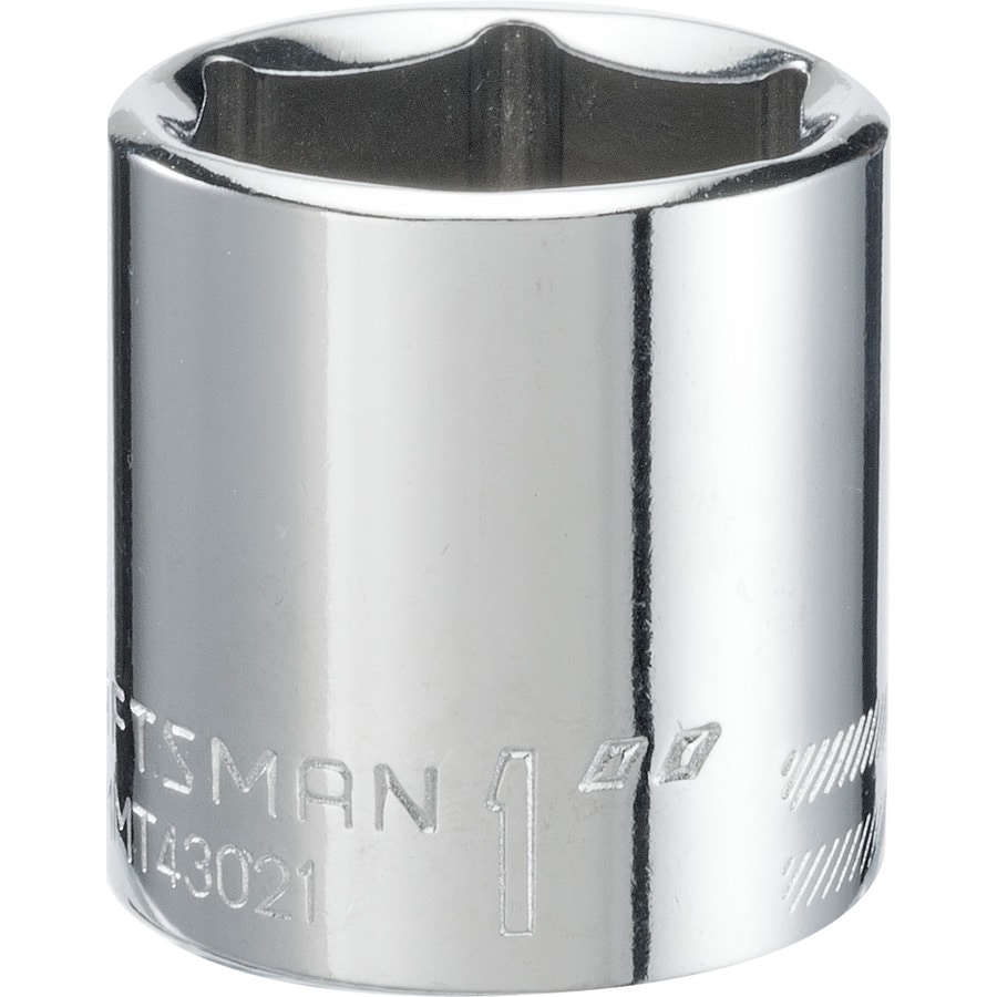 Shop Craftsman Standard Sae 38 In Drive 6 Point 1 In Shallow