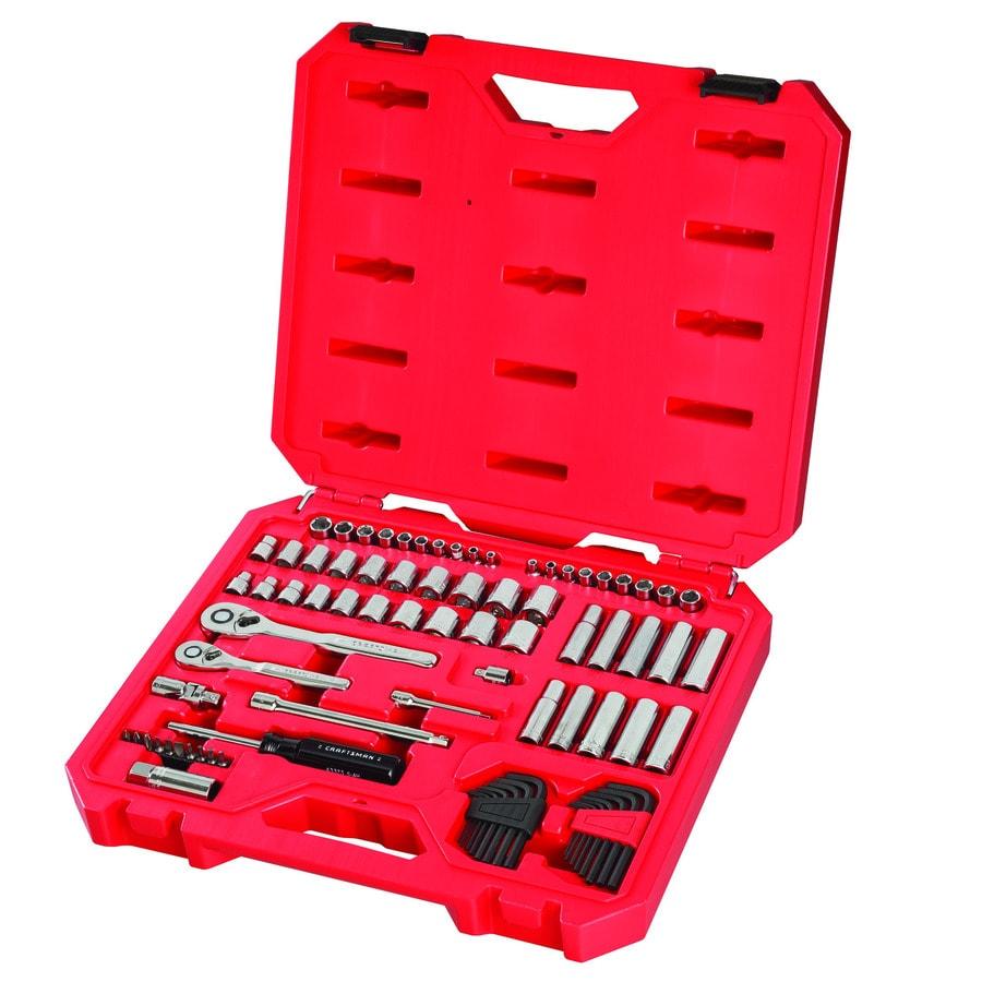 Deep Craftsman 18 pc 12 pt 3//8 in Metric /& Standard Socket Accessory Set