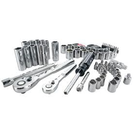 Craftsman 1/4 and 3/8 in. drive Metric and SAE 6 Point Driver Mechanics Tool Set 83 pc. - Case Of: 1; Each Pack Qty: 83; Total Items Qty: 83