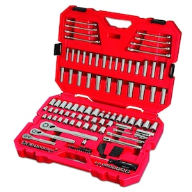 CRAFTSMAN 135-Piece Standard (SAE) and Metric Polished Chrome Mechanics Tool Set