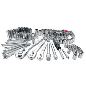 78ad8b69503 CRAFTSMAN 135-Piece Standard (SAE) and Metric Polished Chrome Mechanic s  Tool Set