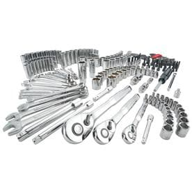 Craftsman 1/4, 3/8 and 1/2 in. drive Metric and SAE 6 and 12 Point Mechanics Tool Set 224 pc. - Case Of: 1; Each Pack Qty: 224; Total Items Qty: 224