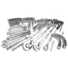 CRAFTSMAN 224-Piece Standard (SAE) and Metric Polished Chrome Mechanics Tool Set