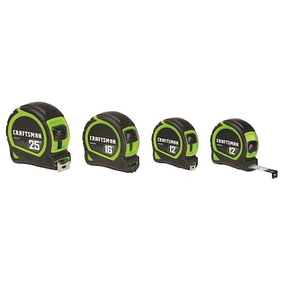 Craftsman HI-VIS 4-Pack 12-ft;16-ft; 25-ft Tape Measure