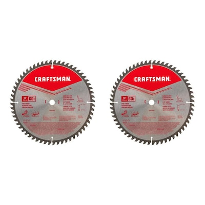 CRAFTSMAN 2-Pack 10-in 60-Tooth Carbide Miter/Table Saw