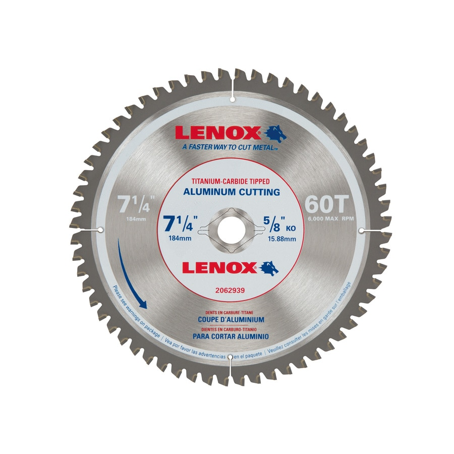 "Lenox 7-1//4/"" Aluminum Metal Cutting Carbide 60 Tooth Circular Saw Blade 2062939"