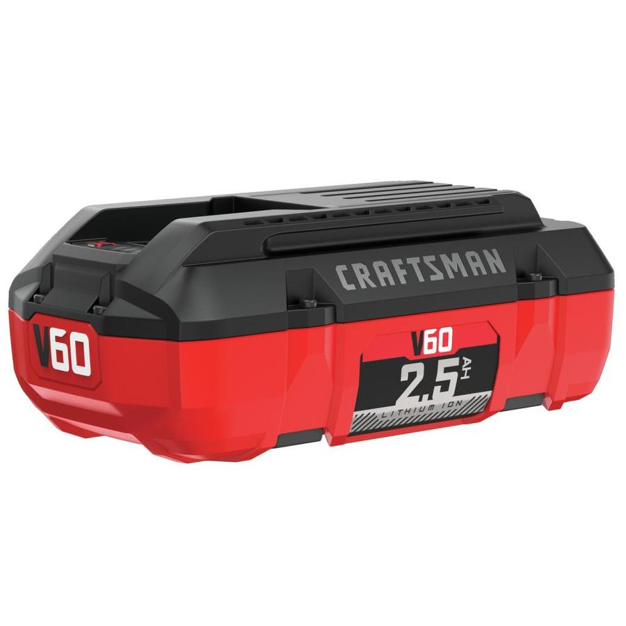 craftsman 60 volt max 2 5 amp hours rechargeable lithium ion li ion battery cordless power. Black Bedroom Furniture Sets. Home Design Ideas