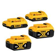 Deals on 4-Pack Dewalt 20-Volt Max Lithium Ion Battery DCB324-4