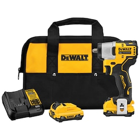DEWALT XTREME 12-Volt Max Variable Speed Brushless 3/8-in Drive Cordless Impact Wrench (2-Batteries Included)