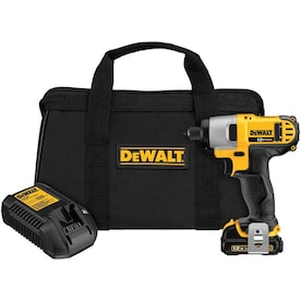 DEWALT 12-Volt Max 1/4-in Variable Speed Cordless Impact Driver (1-Battery Included)