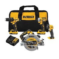 Deals on DEWALT 20-Volt Max 4-Tool Brushless Power Tool Combo Kit