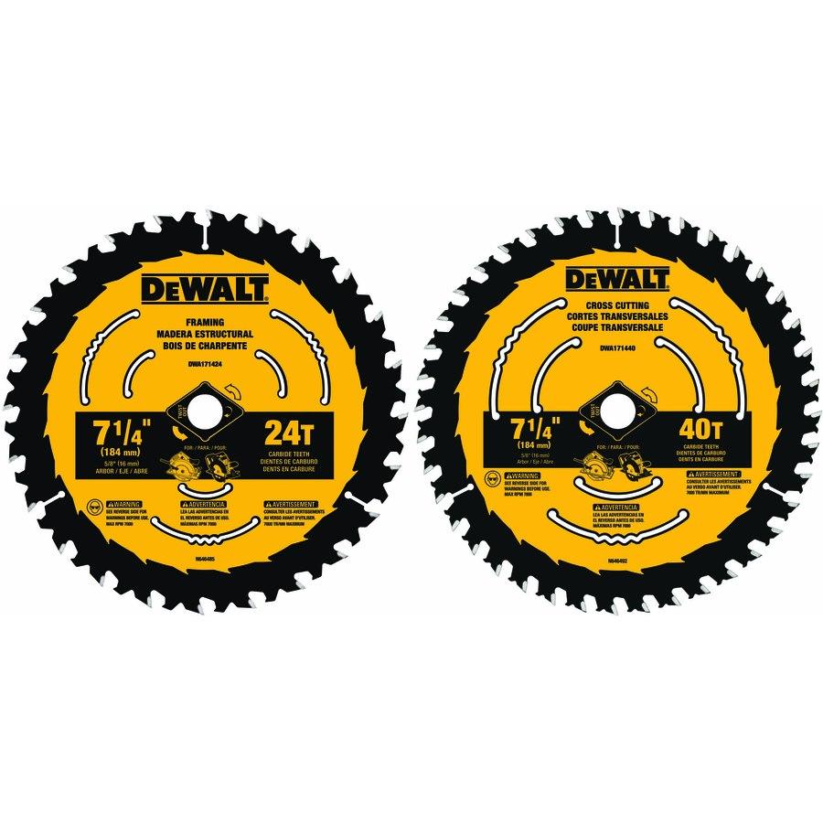 DEWALT 7-1//4 in Steel Metal Circular Saw Blade Wood Cutting Power Tool 40 Teeth