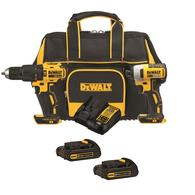 Deals on DEWALT 2-Tool 20V Brushless Power Tool Combo Kit w/Soft Case