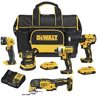 Lowes.com deals on DEWALT 5-Tool 20V Max Brushless Power Tool Combo Kit w/Case